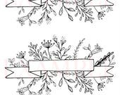 Printable Floral Banner Stickers- A5 PDF, JPG, and PNG Files