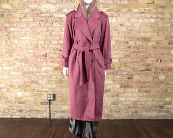 mauve oversized coat / long wool coat / mauve / colorblock / statement coat / menswear inspired / wool overcoat / long wool jacket / 90s