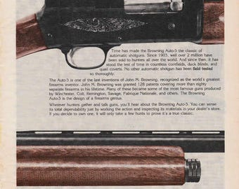 1976 Advertisement Browning Auto-5 Shotgun Field and Stream Retro Vintage Wall Art Decor Gun Collector Gift for Him Hunting Outdoors