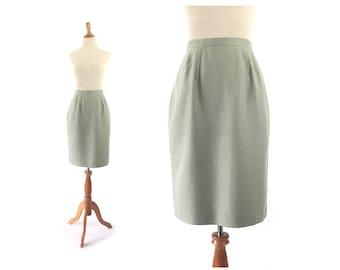 Green Pencil Skirt / mint Green Skirt / Vintage skirt / small Skirt / Vintage Clothing Skirts / Women Bottoms Skirts