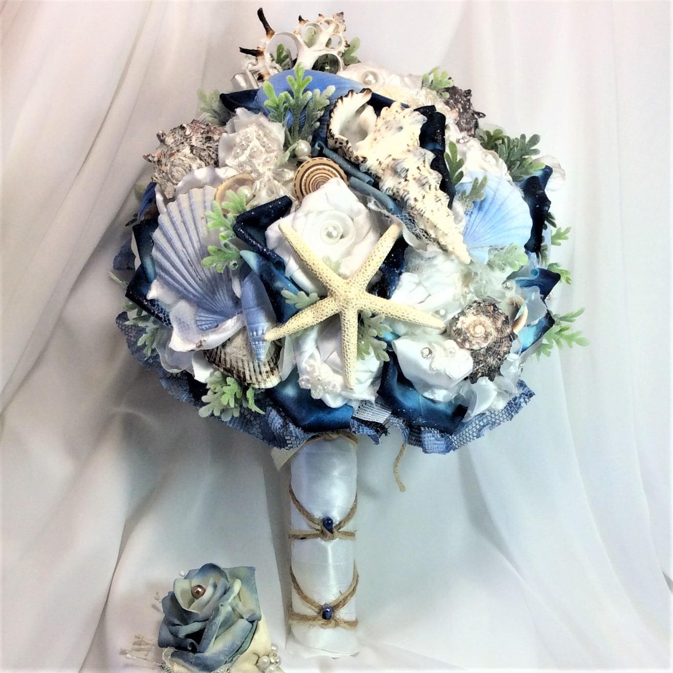 Beach Wedding Flowers: Beach Wedding Bouquet Beach Wedding Flowers Blue/White Beach