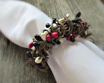 4th of July Napkin Rings, 4th of July Decor Party, 4th of July Decoration, Red White and Blue Berries, Patriotic Decoration, July 4th Decor