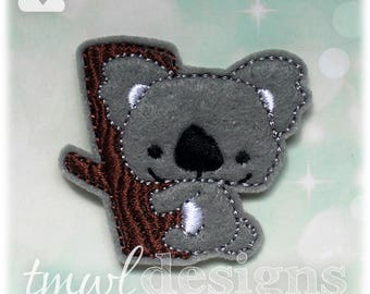 Koala Feltie Digital Design File - 1.75""