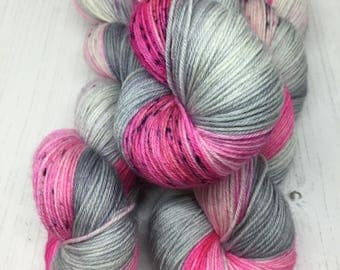 Steely Blush  100% superwash merino wool - 4 ply