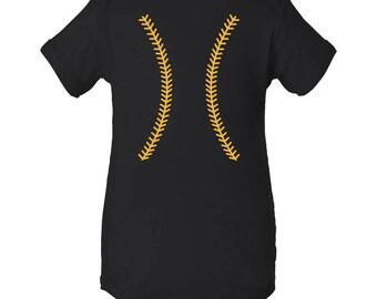 Baseball Team Colors Creeper - Black/Gold