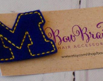 Michigan Feltie - University of Michigan feltie - UM Feltie - UM sports - UM  football - Michigan party favor - Ohio State - BowBravo