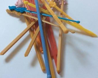 vintage swizzle sticks, 17 vintage swizzle sticks, elephant swizzle sticks, rare swizzle sticks, vintage stir sticks, vintage barware