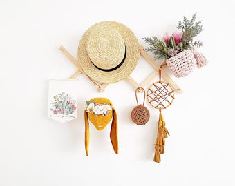 Small dream catcher, boho wall hanging, tassel wall hanging, tassel dream catcher, tassel decor, tassel mobile, baby mobile, nursery decor