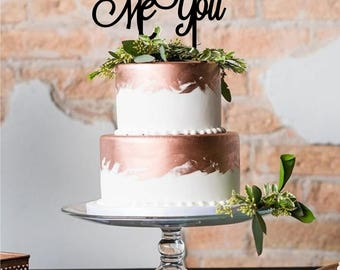 God Gave Me You Cake Topper- Custom Acrylic Cake Topper - Laser Cut - Variety of Colors - Wedding Topper - Cake Decoration