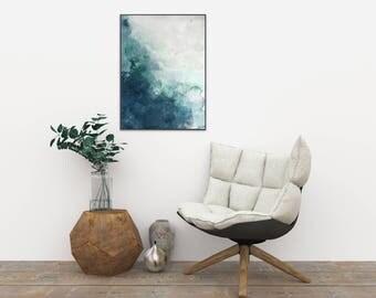 Beach Art Print, Abstract Watercolor, Coastal Style Prints, Blue Watercolor, Blue White Decor, Watercolor Print, Coastal Art Print