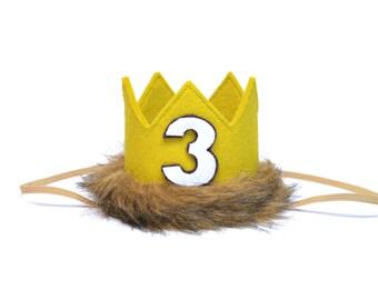 Wild One Third Birthday || Where the Wild Things Are Birthday Crown || Safari Birthday Hat || Wild Thing Birthday || Wild One Crown