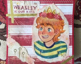 Ron Weasley Portrait || Collage Art || Harry Potter Fanart || Original Art, One of a Kind