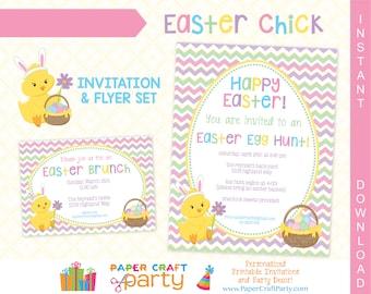 Easter Printable Invitation | Easter Egg Hunt Invitation | Easter Brunch Invite | INSTANT DOWNLOAD & Edit in Adobe Reader | Printable Flyer