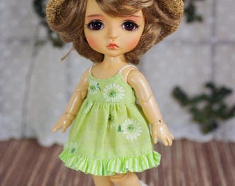 "Lati Yellow/ Pukifee - ""Small Spring"" Dress - Green Color"