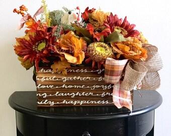 Fall Floral Arrangement - Fall Arrangement - Autumn Floral Arrangement - Thanksgiving Decor - Fall Centerpiece - Fall Decor - Autumn Decor