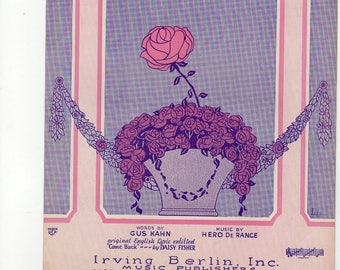 Take This Rose Art by Leff -1925c - Vocal and piano Mint condition.Piano/vocal/ukulele - Bachelorette special!