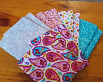 Fat quarter bundle, quilting fabric, coordinated fabric bundle, spring fabric bundle