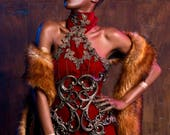 SAMPLE SALE - Baroque Red Dress