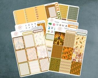 Gobble Gobble, Planner Stickers Erin Condren, Planner Stickers, Thanksgiving Stickers, Autumn Stickers, Erin Condren Planner Stickers, WK-18