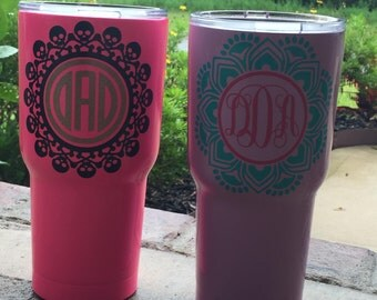 """4"""" Vinyl Decals- Lots of Designs to Choose From- Perfect For Tumblers, Cups, Cars, and Laptops"""