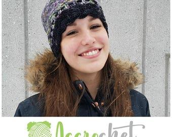 Snow Day - Crochet Hat Pattern - Beanie Crochet Pattern - Inter Crochet Hat Pattern - Quick Crochet Hat Pattern - Unisex Crochet Hat Pattern