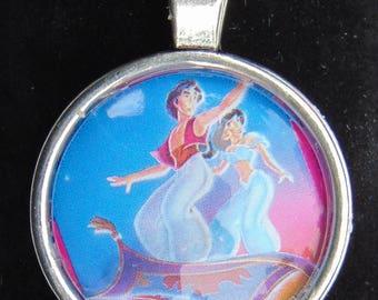 Aladdin and Jasmine Upcycled Necklace