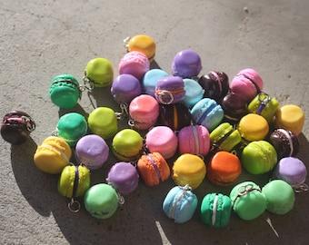 Polymer Clay Charms - Set of SIX random Macaroons