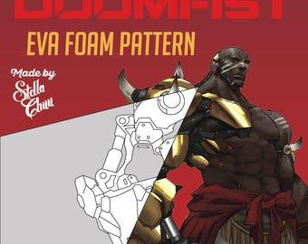 Doomfist Gauntlet Instructional EVA Foam pattern cosplay