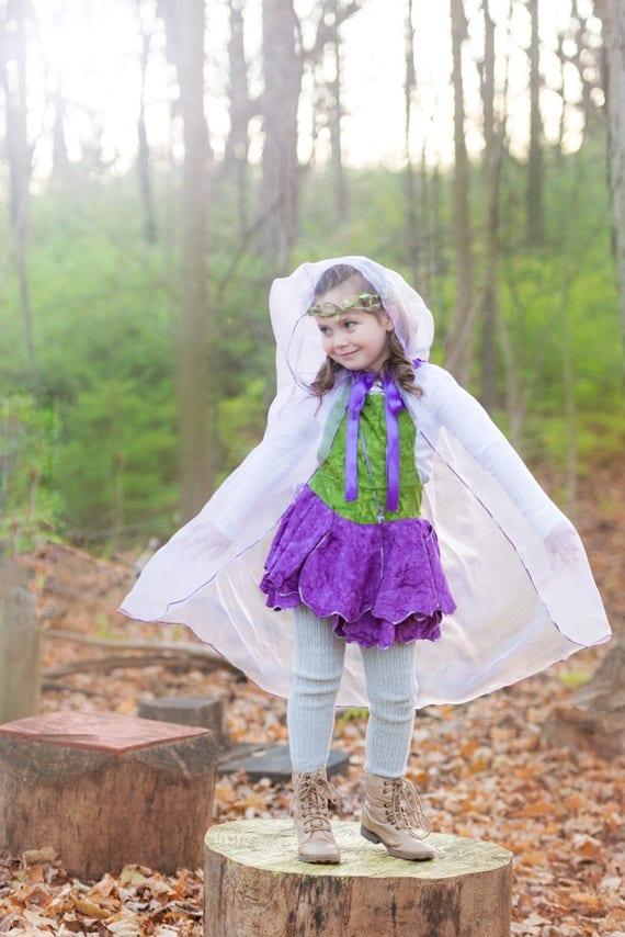 Princess Cape, Dress Up Cape, Cape, Princess Cloak, Hooded Cloak, Fairy Cape, Fairy Costume, Princess Costume, Princess Dress Up, Girls Cape