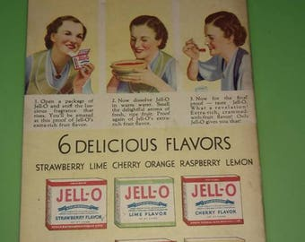 vintage JELL-O TASTES  recipes leaflet booklet
