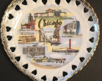 Vintage Chicago Souvenir Plate by Thrifco