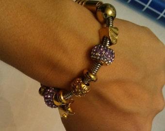 Stainless steel, hypoallergenic, nickel free charm bracelet.