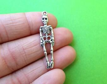 8 Human Skeleton Charms