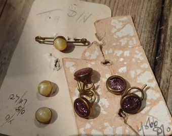 Edwardian buttons and bar brooch