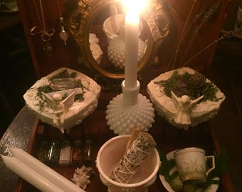 Fairy Fae WITCH BOX WitchCraft Altar Wicca Pagan Ritual Kit Elemental Spirit Occult Tools Herbal Crystal Pantry Goddess Sacred Space
