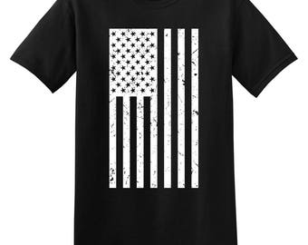 American Flag Patriotic United States of America USA Mens Graphic Tee Adult T-shirt