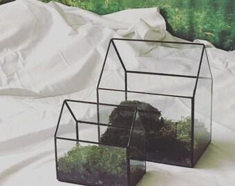 Glass House Terrarium - Large; Geometric Terrarium; Minimalist Terrarium
