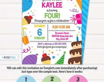 swimming party invitations