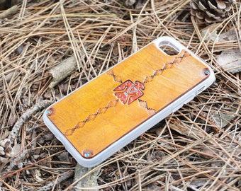 Leather iPhone 6s Plus Case / iPhone 6 Plus Case - Southwestern Thunderbird / Eagle