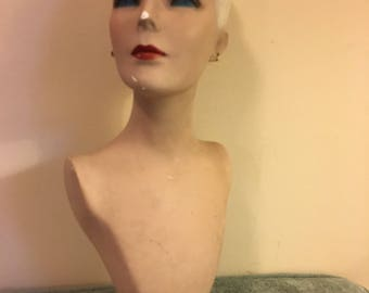 Vintage Mannequin Earring/Head/Bust Form Women's