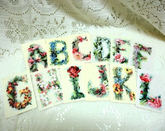 Catherine Klein Floral Alphabet Cards ~ All 26 ~ A thru Z
