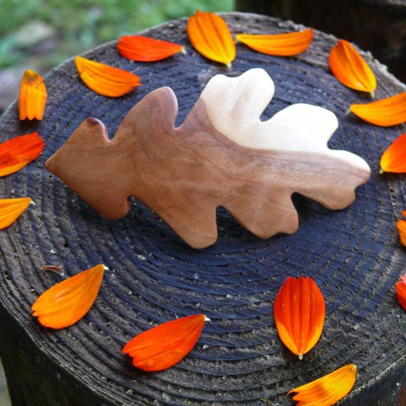 Oak Leaf hair Clip, Oak leaf jewelry, Leaf Hair accessory, Nature Lover gift, Festival wear, Gift for her, Boho hippie jewelry, Boho Wedding