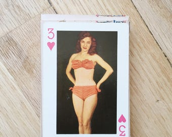 Vintage Pinup Girl Playing Cards