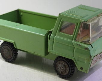 Vintage scarce 1960 Clover Toys pressed steel green pick up truck Made in Korea.