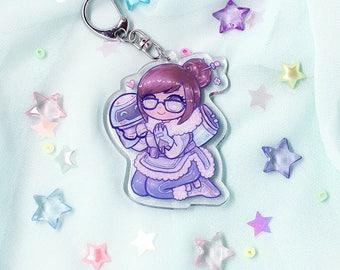 Mei Glitter Keychain