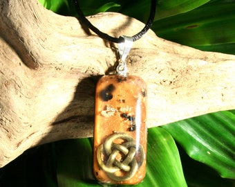 BLACK TOURMALINE Orgone Pendant - Orgone and Crystal Energy Healing Necklace - Unisex Organite - Medium