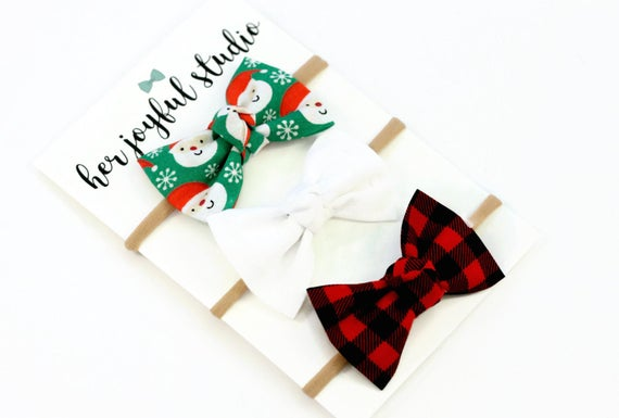 Christmas Bow Headbands