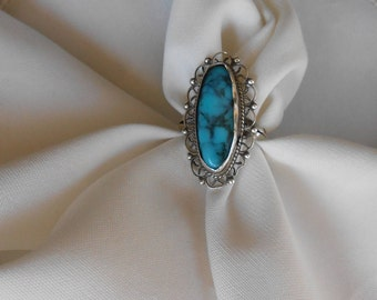 vintage Mexico 925 silver turquoise ring