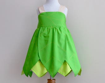 Girl's Fairy Costume. Tinkerbell Fairy Inspired Dress  Sizes: 1-8