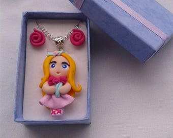 "Box Christmas gift box ""Princess Doll"" polymer clay"